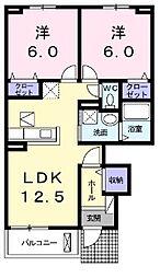 フランメゾン南沖洲A[1階]の間取り