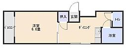 シャトレ祇園原[101号室]の間取り