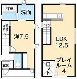 [一戸建] 徳島県徳島市佐古五番町 の賃貸【/】の間取り