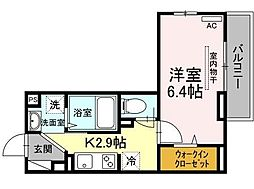 JR南武線 矢向駅 徒歩18分の賃貸アパート 3階1Kの間取り