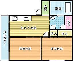 メゾン本田[2階]の間取り