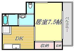青木ハイツ[3階]の間取り