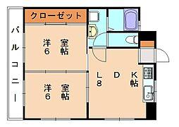 ウィステリア9[3階]の間取り