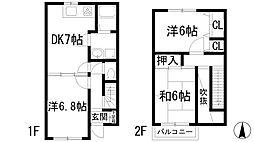 [テラスハウス] 兵庫県伊丹市寺本5丁目 の賃貸【/】の間取り