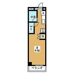 へんぜるハイツ[4階]の間取り