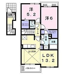 フェリオII[2階]の間取り