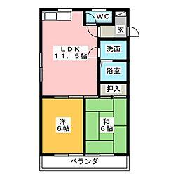 岡田ビルディング[3階]の間取り