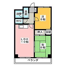 リビングコートヨコチ[5階]の間取り