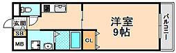 兵庫県伊丹市南野北2丁目の賃貸マンションの間取り