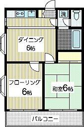 レジデンス向ヶ丘[2階]の間取り