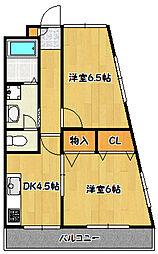 兵庫県神戸市北区鈴蘭台東町6丁目の賃貸マンションの間取り