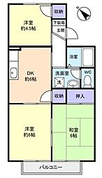 メゾン石神[1階]の間取り