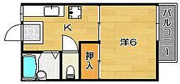 トリム南茨木2号館[105号室]の間取り