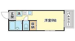 FELICE垣内[201号室]の間取り