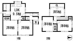 [一戸建] 兵庫県川西市鴬台1丁目 の賃貸【/】の間取り