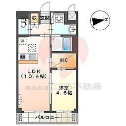 (仮称)堺市北区新金岡町新築マンション 3階1LDKの間取り