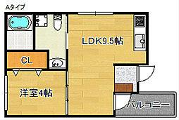 F maison 住ノ江[3階]の間取り