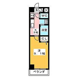 コ・ライオン03[2階]の間取り