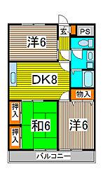 長澤マンション[105号室]の間取り