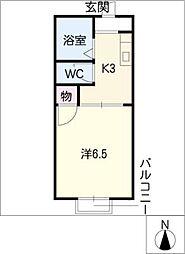 サンハイツ前田A,B[1階]の間取り