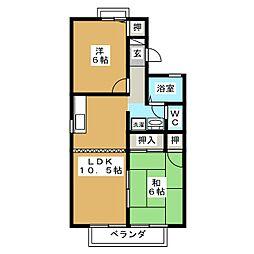 カサベルデII[2階]の間取り
