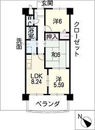 ベル・コリーヌ富貴ノ台[3階]の間取り