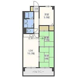 北海道札幌市北区北三十五条西10丁目の賃貸マンションの間取り