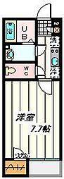 東武野田線 七里駅 徒歩7分の賃貸アパート 1階1Kの間取り