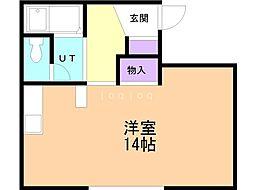 ステージ88 3階ワンルームの間取り