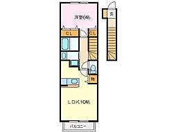 アイベルン B棟[2階]の間取り