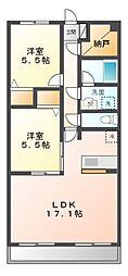 パレーネ増嶋[3階]の間取り