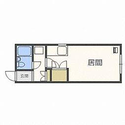 北海道札幌市東区北三十六条東16丁目の賃貸アパートの間取り