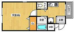 京都府京都市山科区東野北井ノ上町の賃貸マンションの間取り