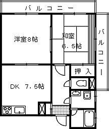 埼玉県さいたま市大宮区吉敷町3丁目の賃貸マンションの間取り