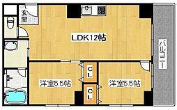 エクセル熊野町[3階]の間取り