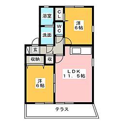 ウィルガーデン[1階]の間取り