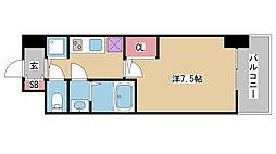兵庫県神戸市兵庫区七宮町2丁目の賃貸マンションの間取り
