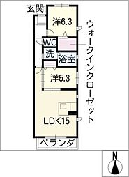 スターホーム東山[2階]の間取り