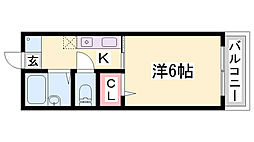 ラヴィエゼ神戸[1階]の間取り