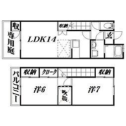 [テラスハウス] 静岡県浜松市西区大久保町 の賃貸【/】の間取り