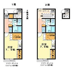 兵庫県加古川市尾上町池田の賃貸アパートの間取り