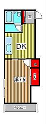 AS戸田[4階]の間取り