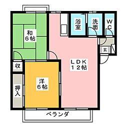 レジデンス林3[2階]の間取り
