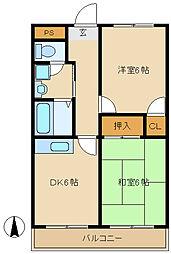 シャトー太田[3階]の間取り