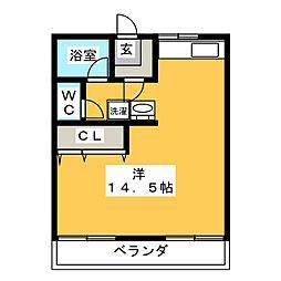 片岡アパート[2階]の間取り