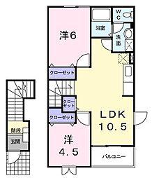 SKアパートメント B[0202号室]の間取り
