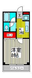 STUDIO UWA[1階]の間取り