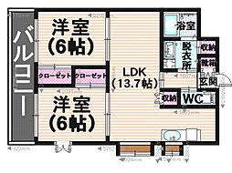 第27川崎ビル[403号室]の間取り