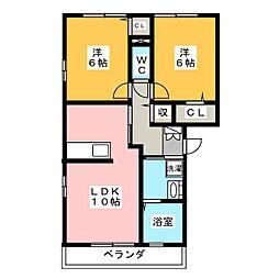 エステイトZEN C[2階]の間取り