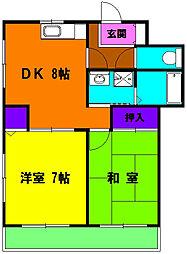 静岡県浜松市中区十軒町の賃貸マンションの間取り
